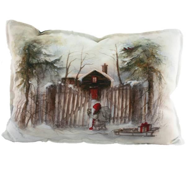 Bilde av Pute med fyll, Nisse ved grinda, Gammelnissen