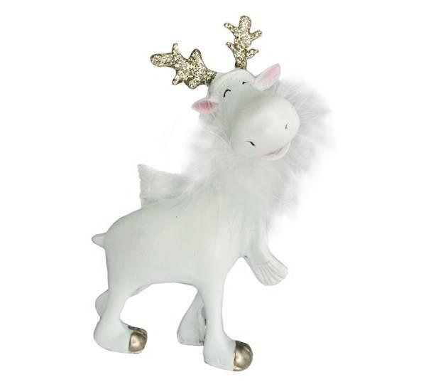 Bilde av Hvit elg-engel stående
