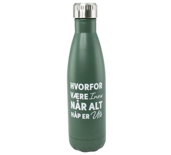 Bilde av Termoflaske grønn, hvorfor være inne når alt håp