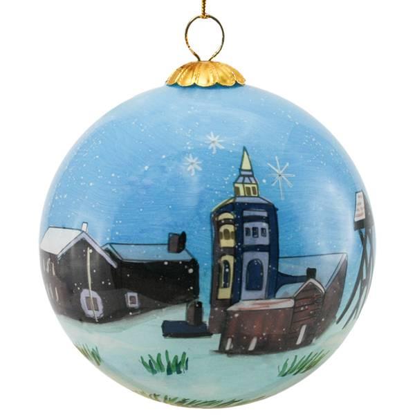Bilde av Julekule håndmalt  Røros  God jul