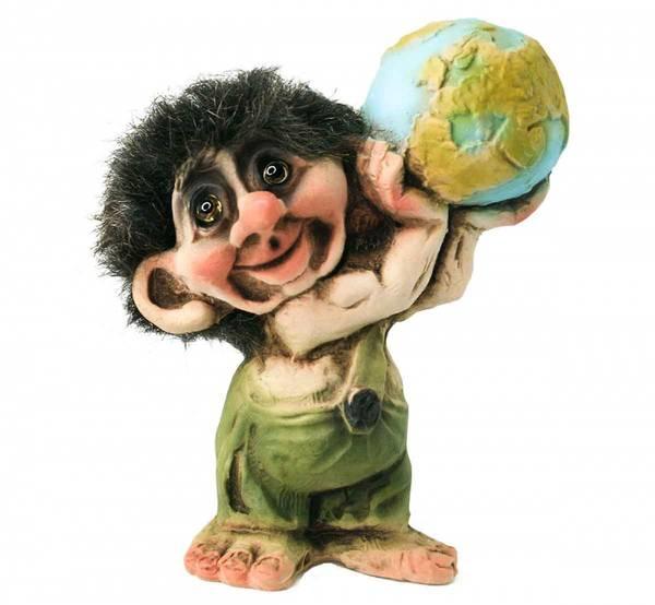 Bilde av Troll holder jordkloden  (Troll nr. 016)