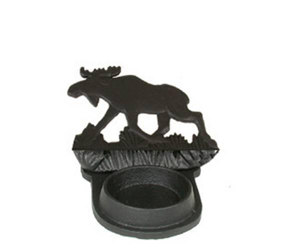 Bilde av Telysholder med elgmotiv støpejern