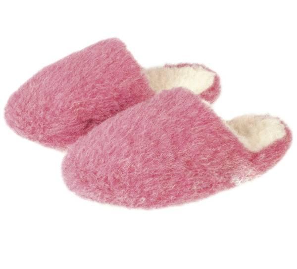 Bilde av Ullslippers 100% merinoull, rosa
