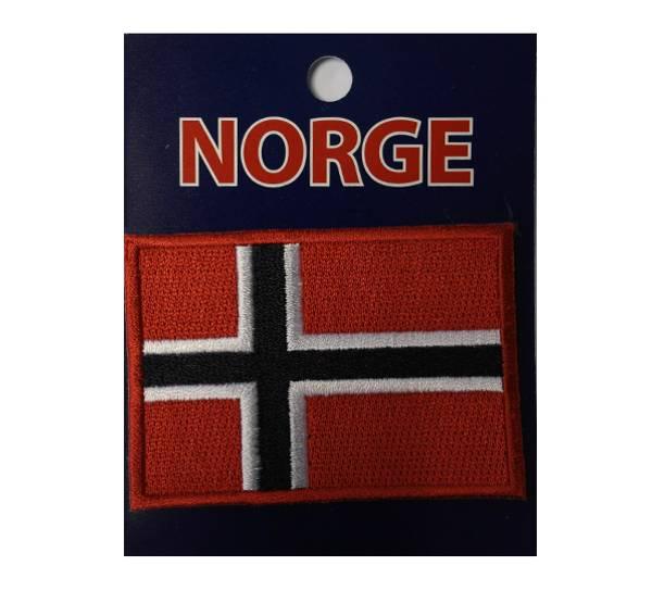 Bilde av Brodert merke, 7x5 cm., norsk flagg