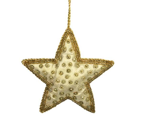 Bilde av Tøystjerne i gull, for oppheng