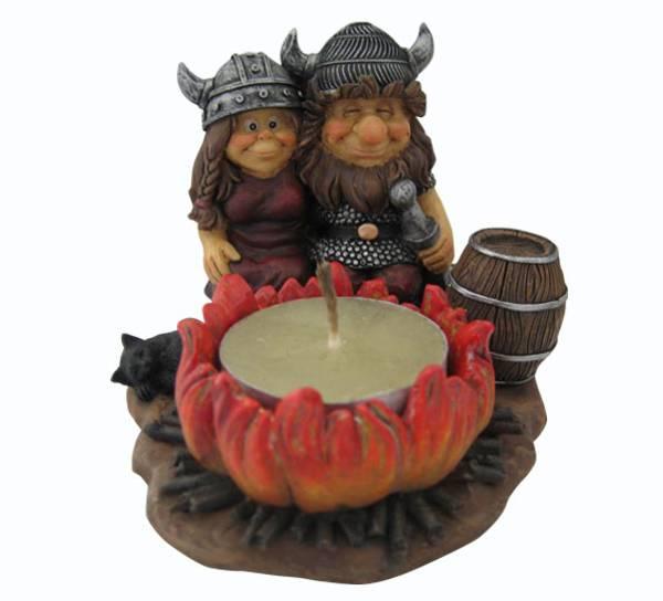 Bilde av Vikingpar med bål telysholder