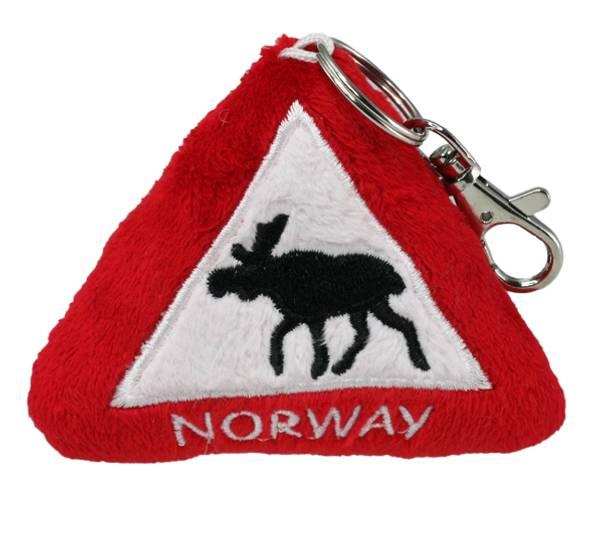 Bilde av Nøkkelring,trekant m. elg