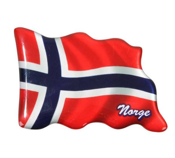 Bilde av Magnet, norsk flagg