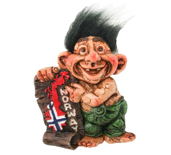 Bilde av Magnet, troll med Norgeskart