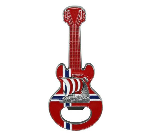 Bilde av Magnet, gitar med vikingskip og flaskeåpner