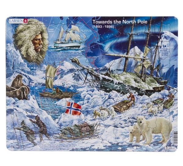 Bilde av Puslespill  Towards the north pole  65 brikker