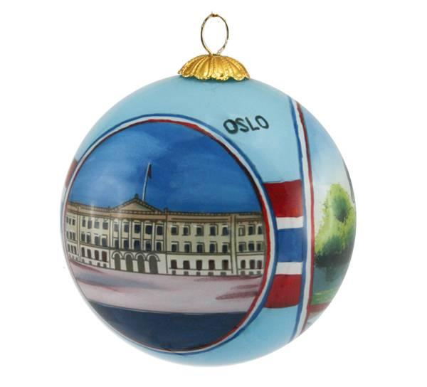 Bilde av Julekule håndmalt  Oslo
