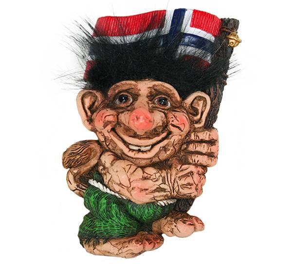 Bilde av Magnet, Troll med vaiende flagg