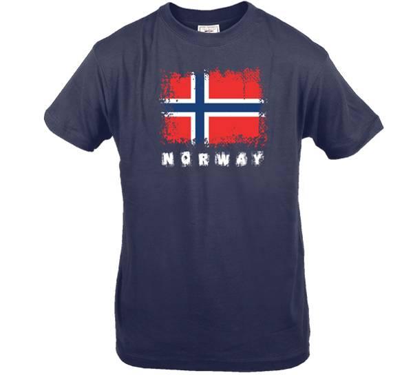 Bilde av T-skjorte. Norway, blå