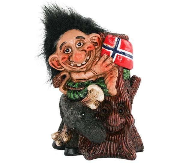Bilde av Figur, Troll med elg
